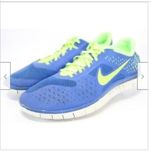 NIKE Free 4.0 V2 Men's Running Shoes Size 14 Blue